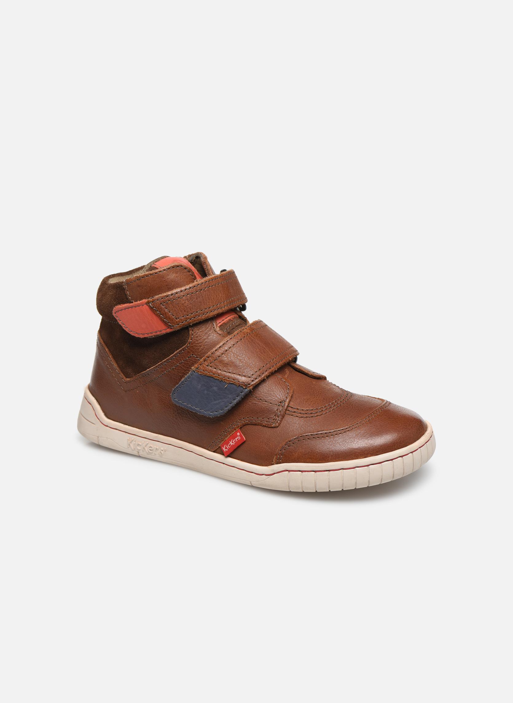 Zapatos con velcro Kickers Winsor Marrón vista de detalle / par