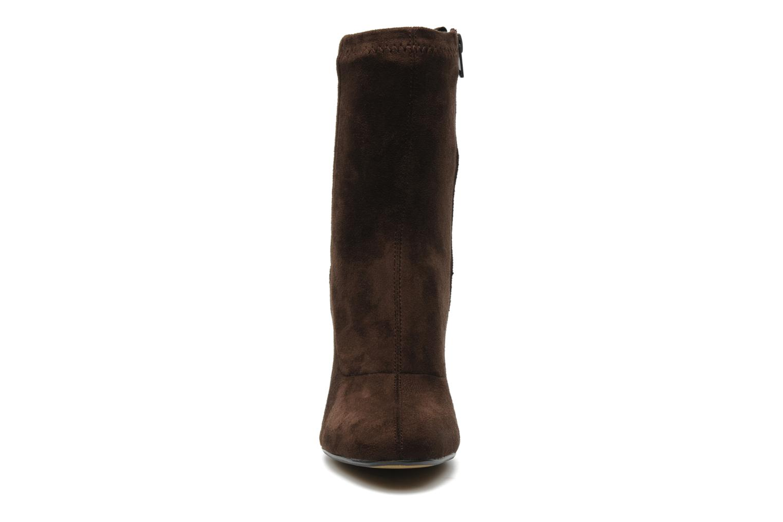 Bottines et boots Georgia Rose Napani stretch Marron vue portées chaussures