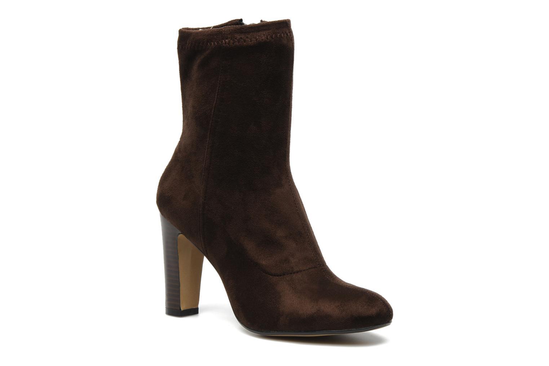 Bottines et boots Georgia Rose Napani stretch Marron vue détail/paire