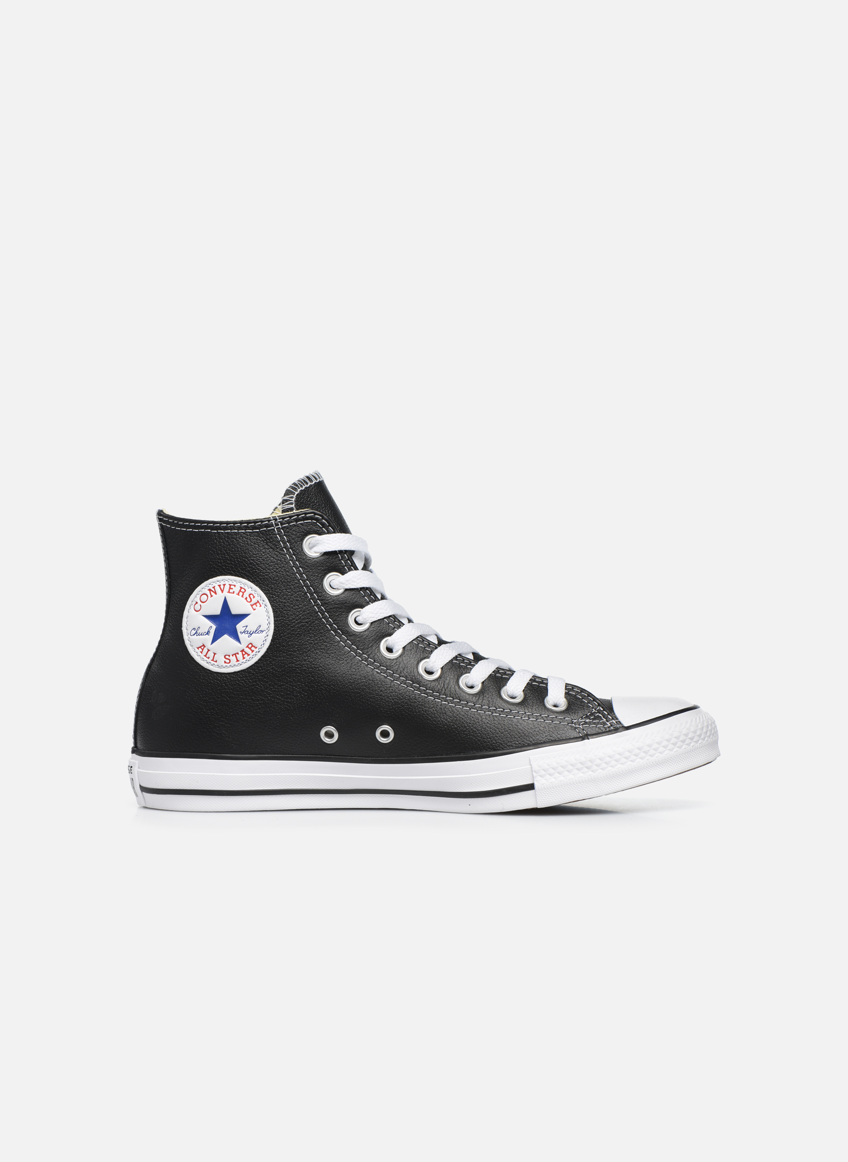 Sneakers Converse Chuck Taylor All Star Leather Hi M Nero immagine posteriore