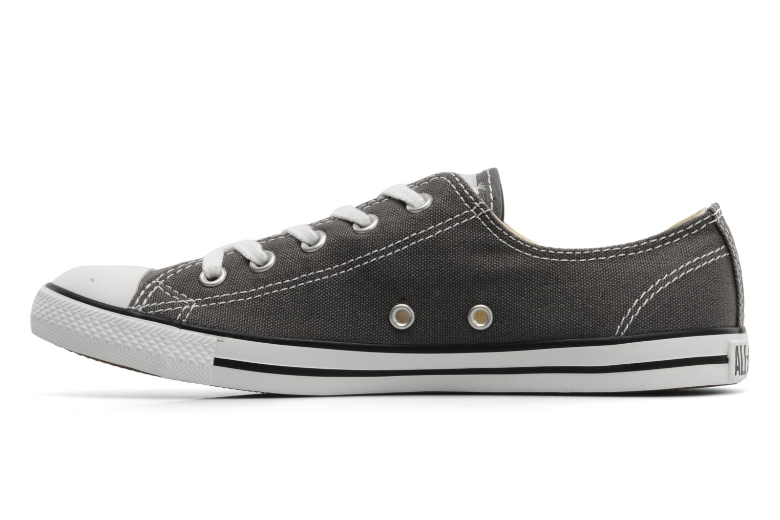 Baskets Converse All Star Dainty Canvas Ox Gris vue face