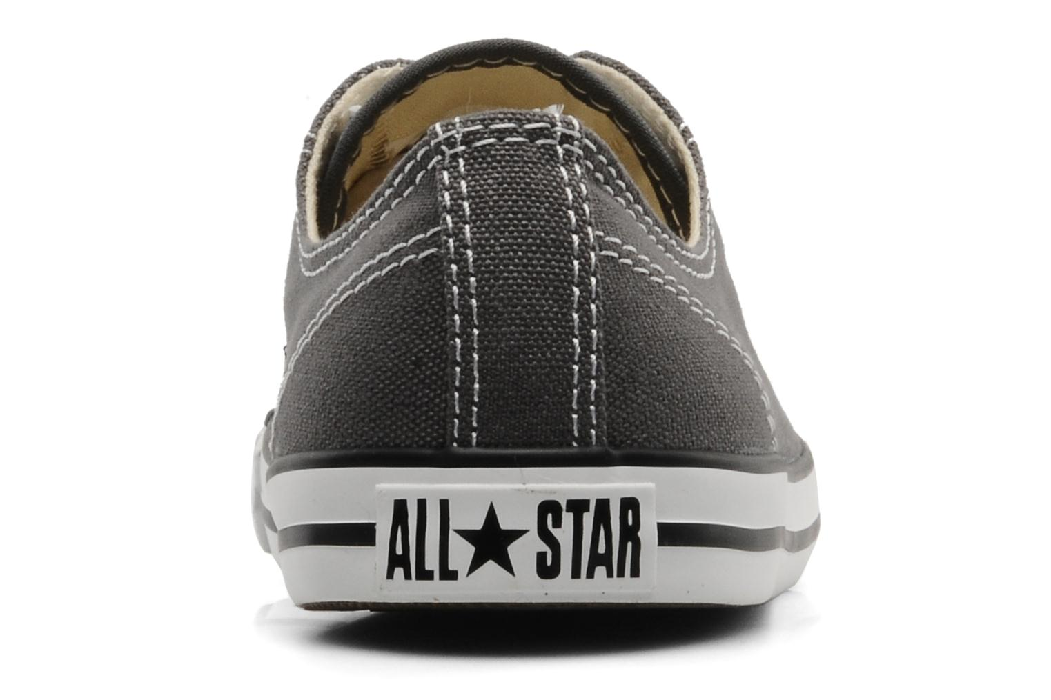 Trainers Converse All Star Dainty Canvas Ox Grey view from the right