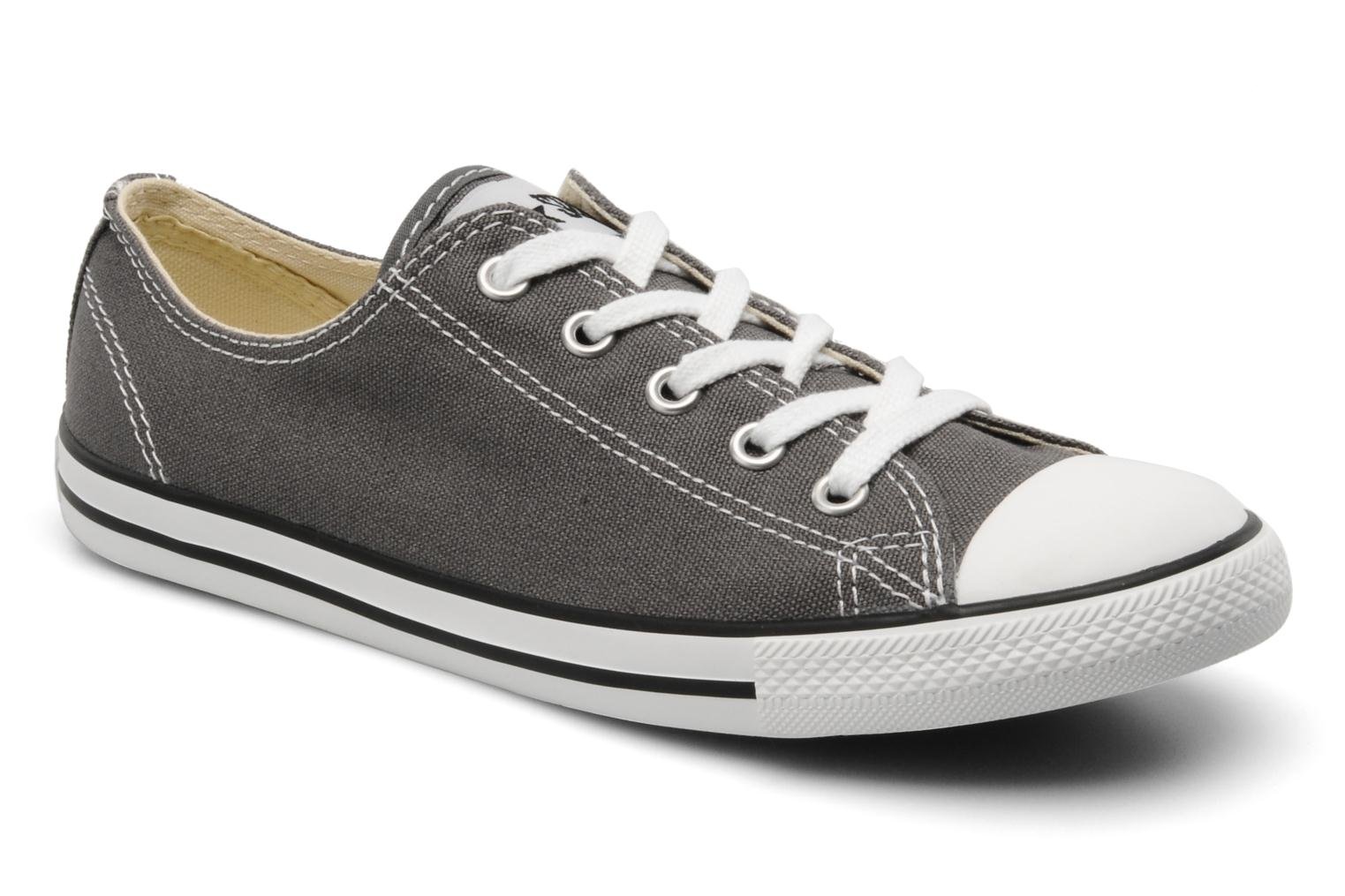 Baskets Converse All Star Dainty Canvas Ox Gris vue détail/paire