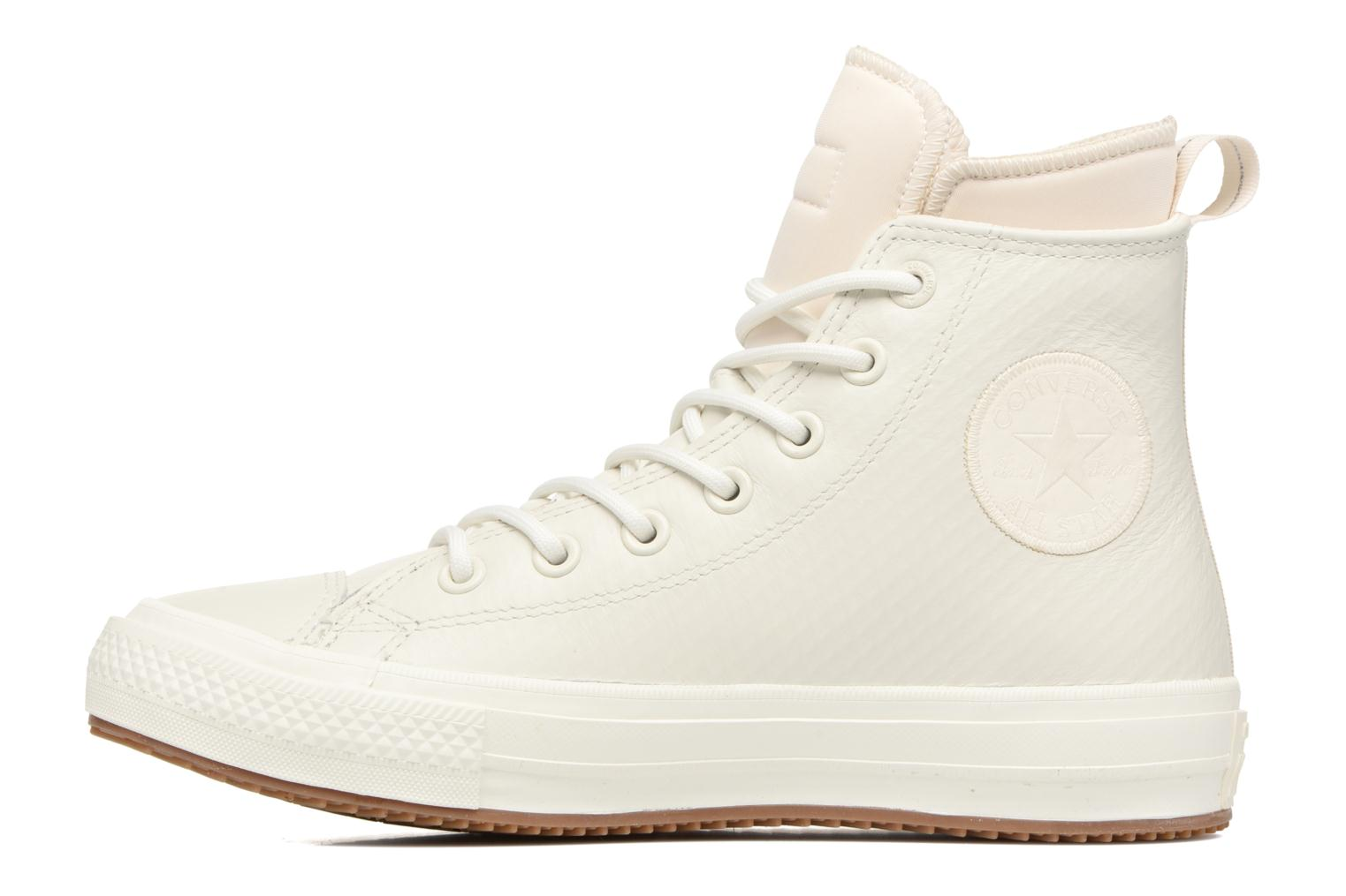 Baskets Converse Chuck Taylor All Star Leather Hi W Beige vue face