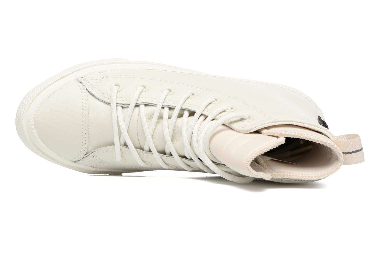 Baskets Converse Chuck Taylor All Star Leather Hi W Beige vue gauche