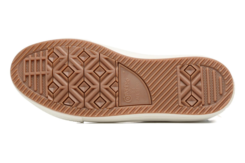 Sneakers Converse Chuck Taylor All Star Leather Hi W Beige immagine dall'alto