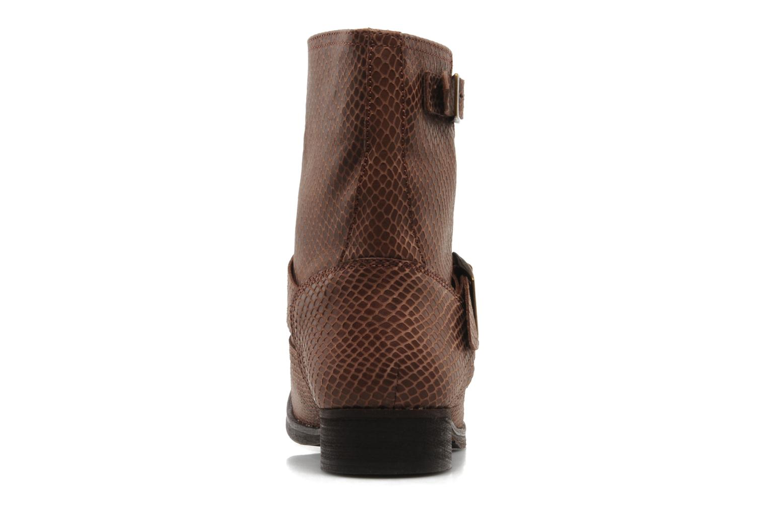 Ankle boots Georgia Rose Boteni Brown view from the right