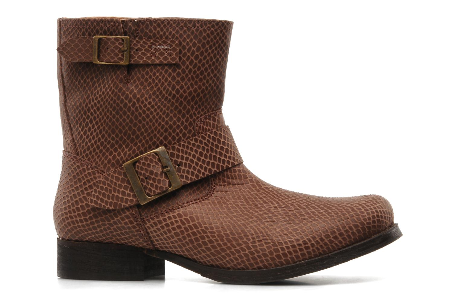 Ankle boots Georgia Rose Boteni Brown back view