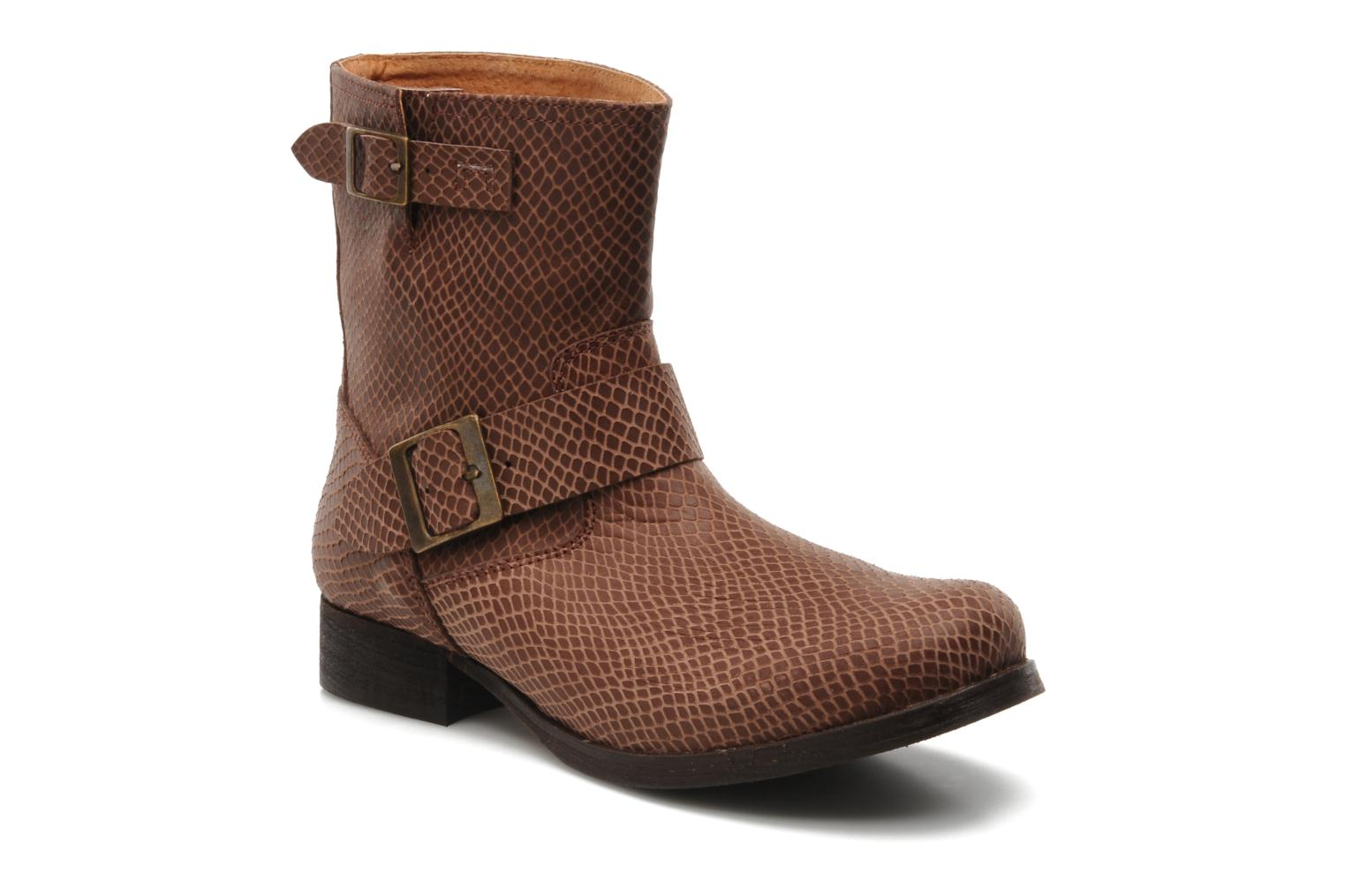Ankle boots Georgia Rose Boteni Brown detailed view/ Pair view