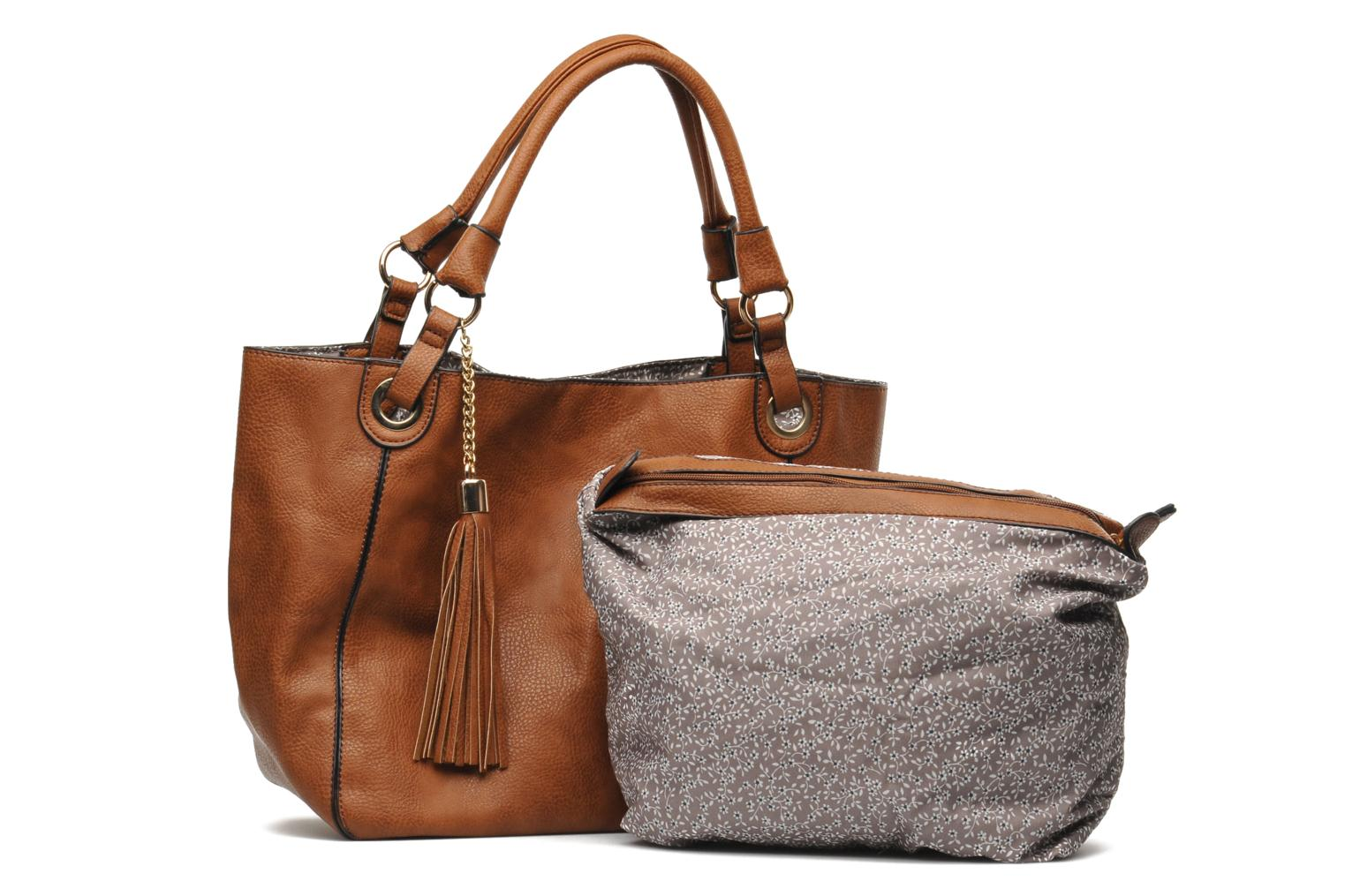 Handbags Georgia Rose Barnabé Brown view from the left