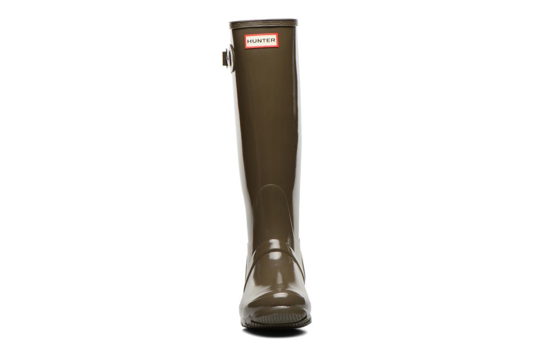 Stövlar & gummistövlar Hunter Original Tall Gloss Grön bild av skorna på