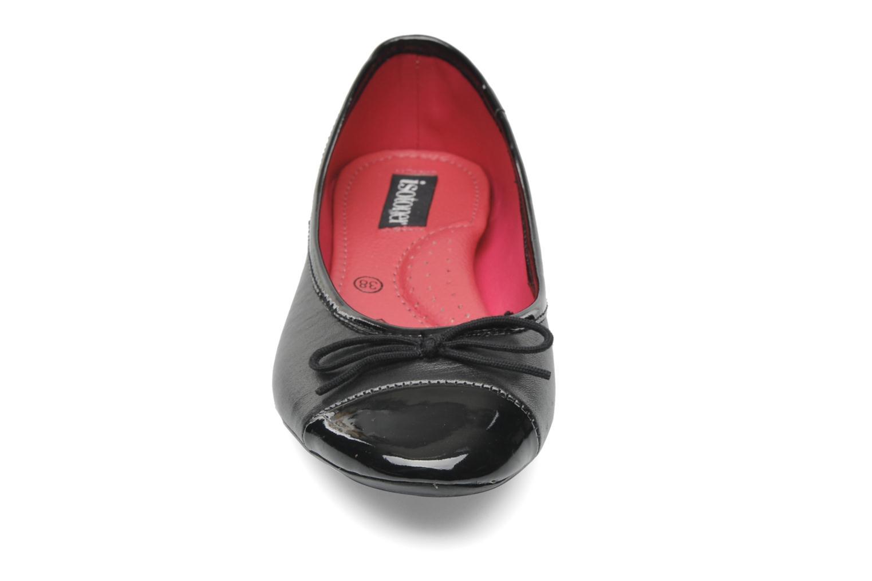 Ballerines Isotoner Ballerine City Bicolore Noir vue portées chaussures