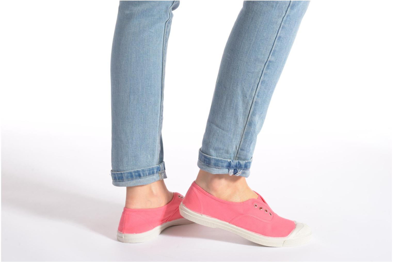 Trainers Bensimon Tennis Elly Pink view from underneath / model view