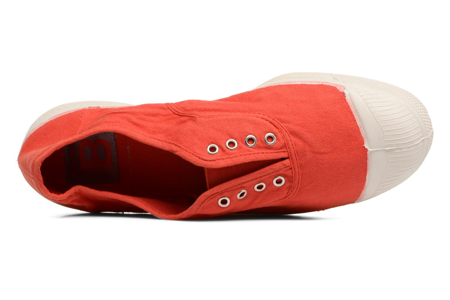 Trainers Bensimon Tennis Elly Red view from the left