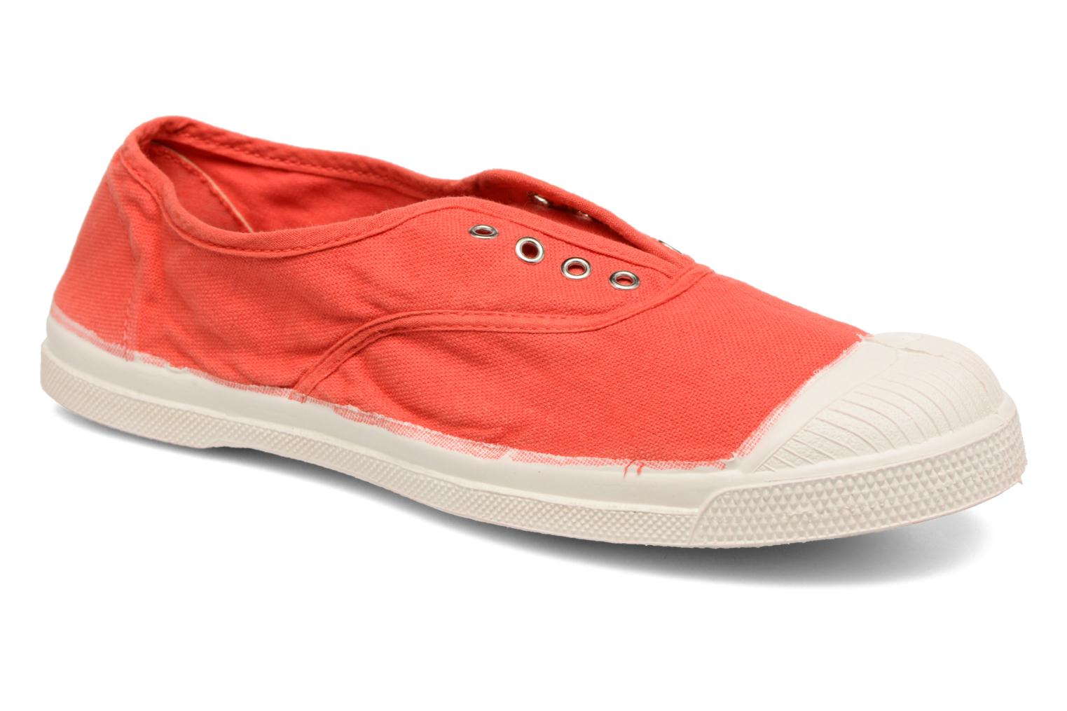 Baskets Bensimon Tennis Elly Rouge vue détail/paire