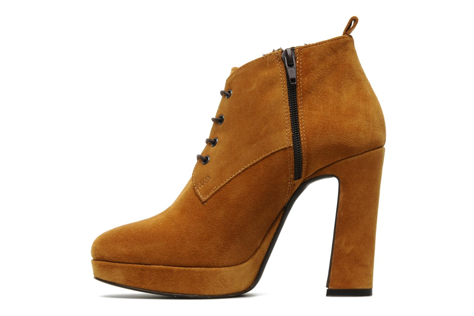 Ankle boots Georgia Rose Nuts Brown front view