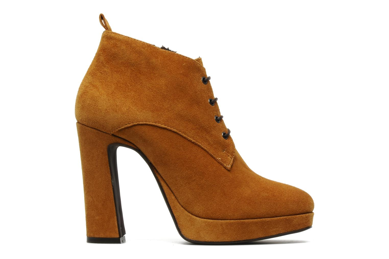 Ankle boots Georgia Rose Nuts Brown back view