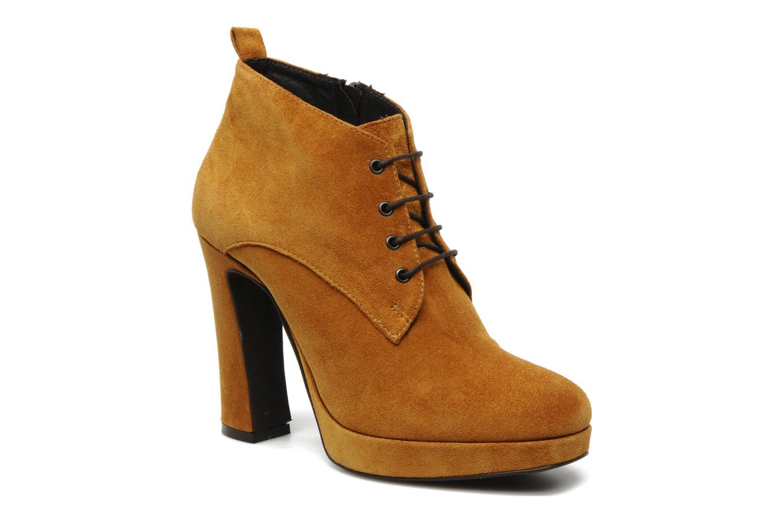 Ankelstøvler Georgia Rose Nuts Brun detaljeret billede af skoene