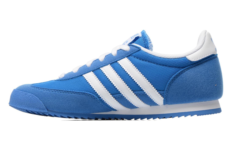 Baskets Adidas Originals Dragon J Bleu vue face
