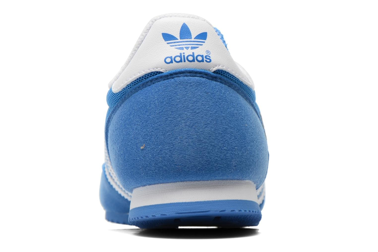 Trainers Adidas Originals Dragon J Blue view from the right