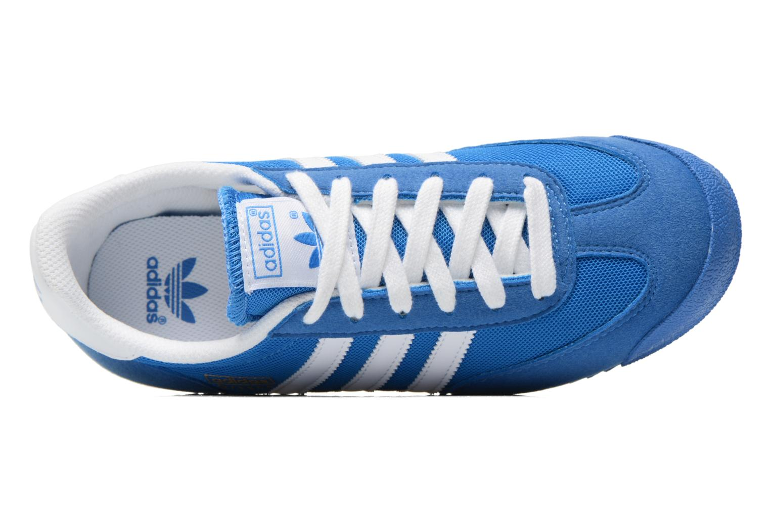 Baskets Adidas Originals Dragon J Bleu vue gauche