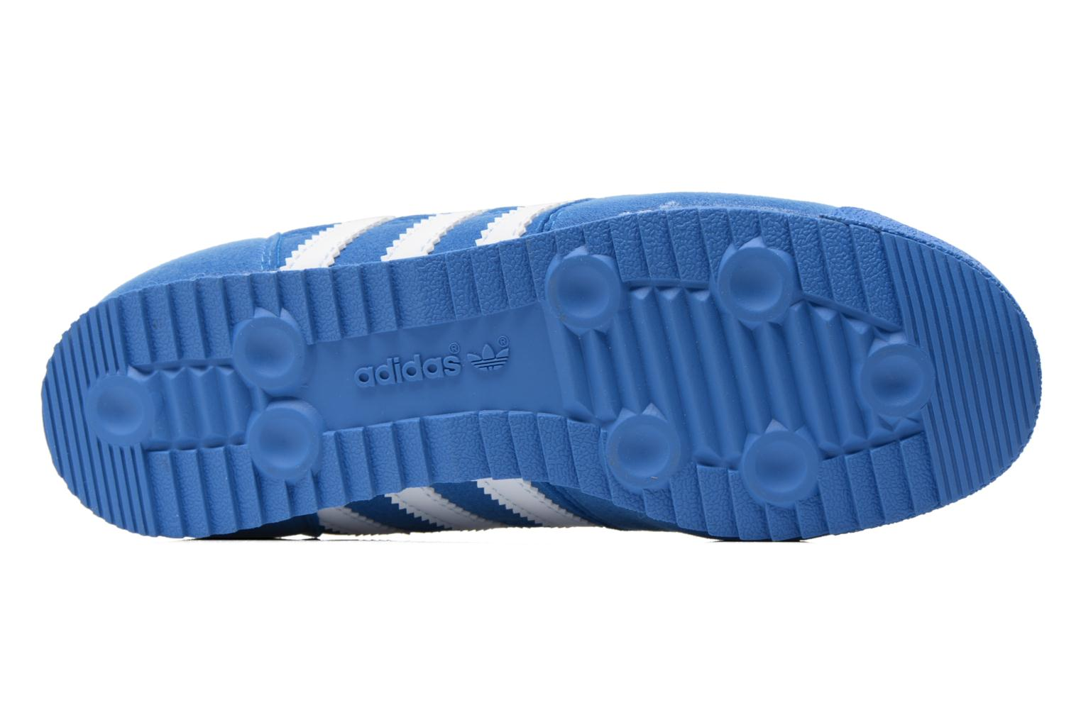 Baskets Adidas Originals Dragon J Bleu vue haut