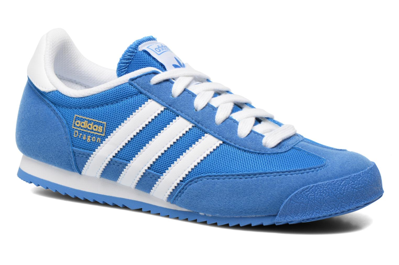 Baskets Adidas Originals Dragon J Bleu vue détail/paire
