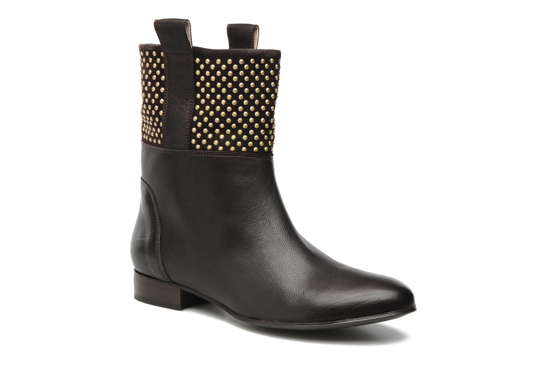 Bottines et boots Paul & Betty Studs Marron vue détail/paire