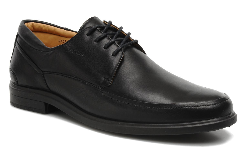 Zapatos con cordones Sledgers Joke Negro vista de detalle / par