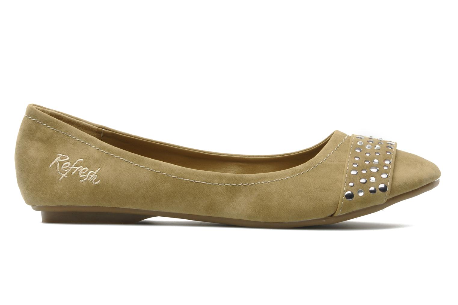 Ballet pumps Refresh Valencina Beige back view