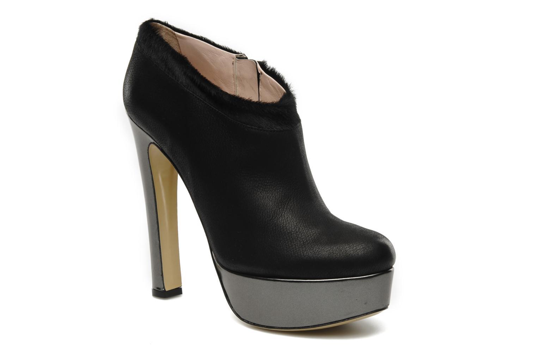 Boots De Siena shoes Amalia Svart detaljerad bild på paret