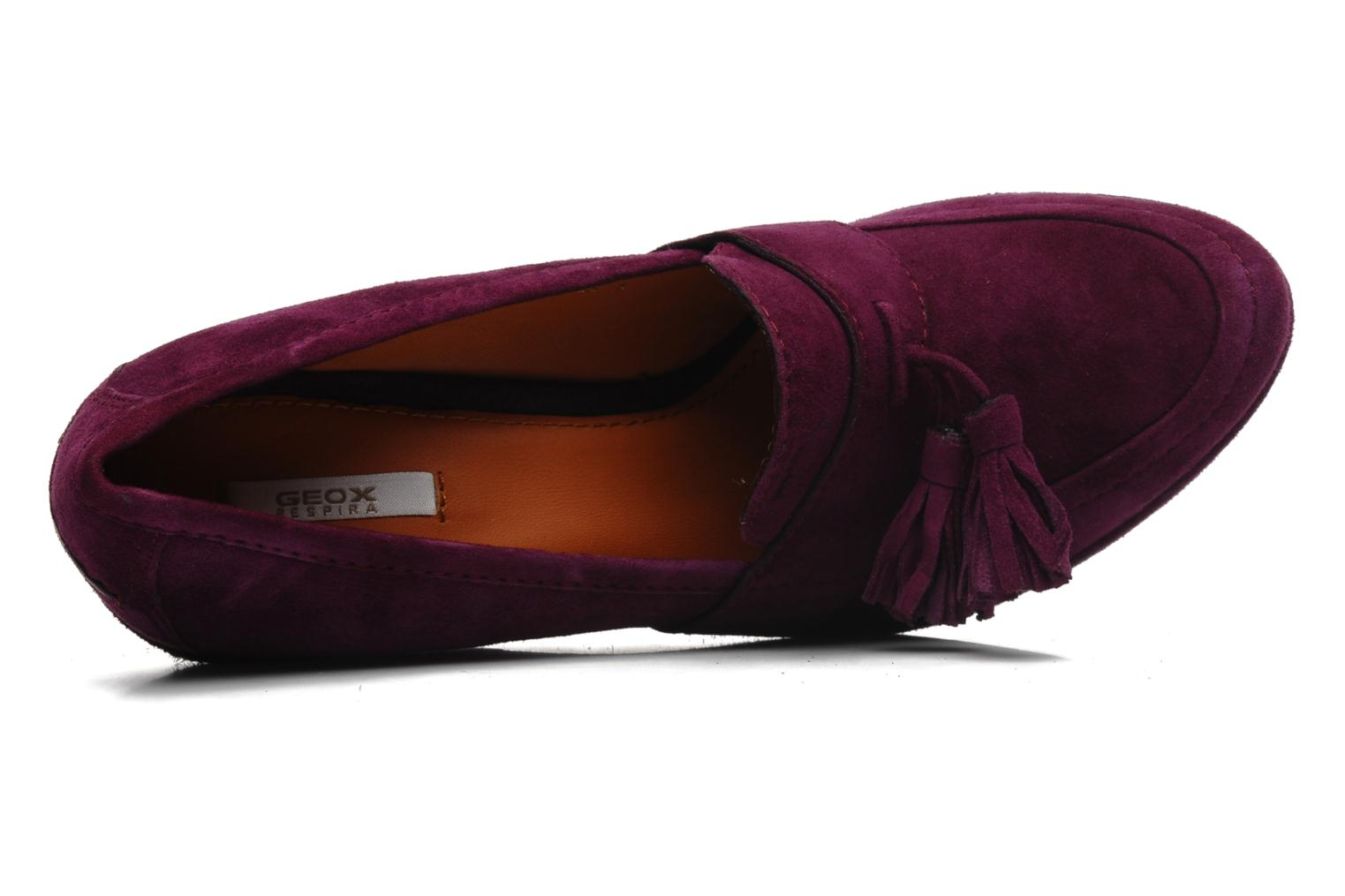 Loafers Geox D ARMONIA D Purple view from the left