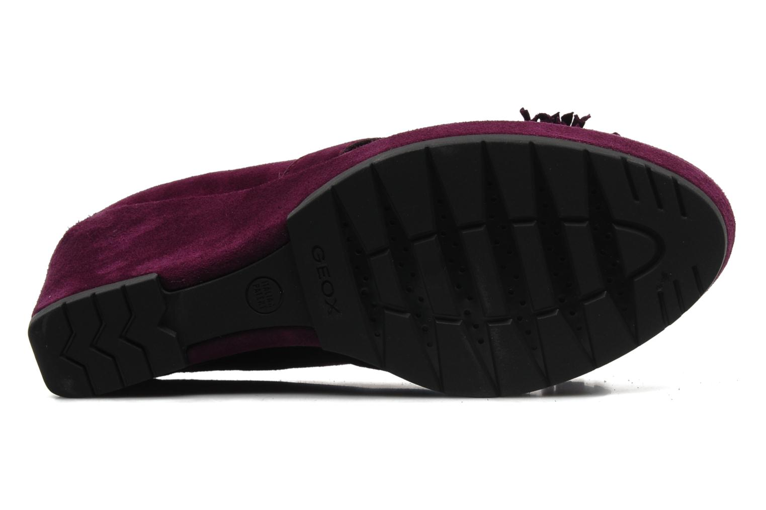Loafers Geox D ARMONIA D Purple view from above