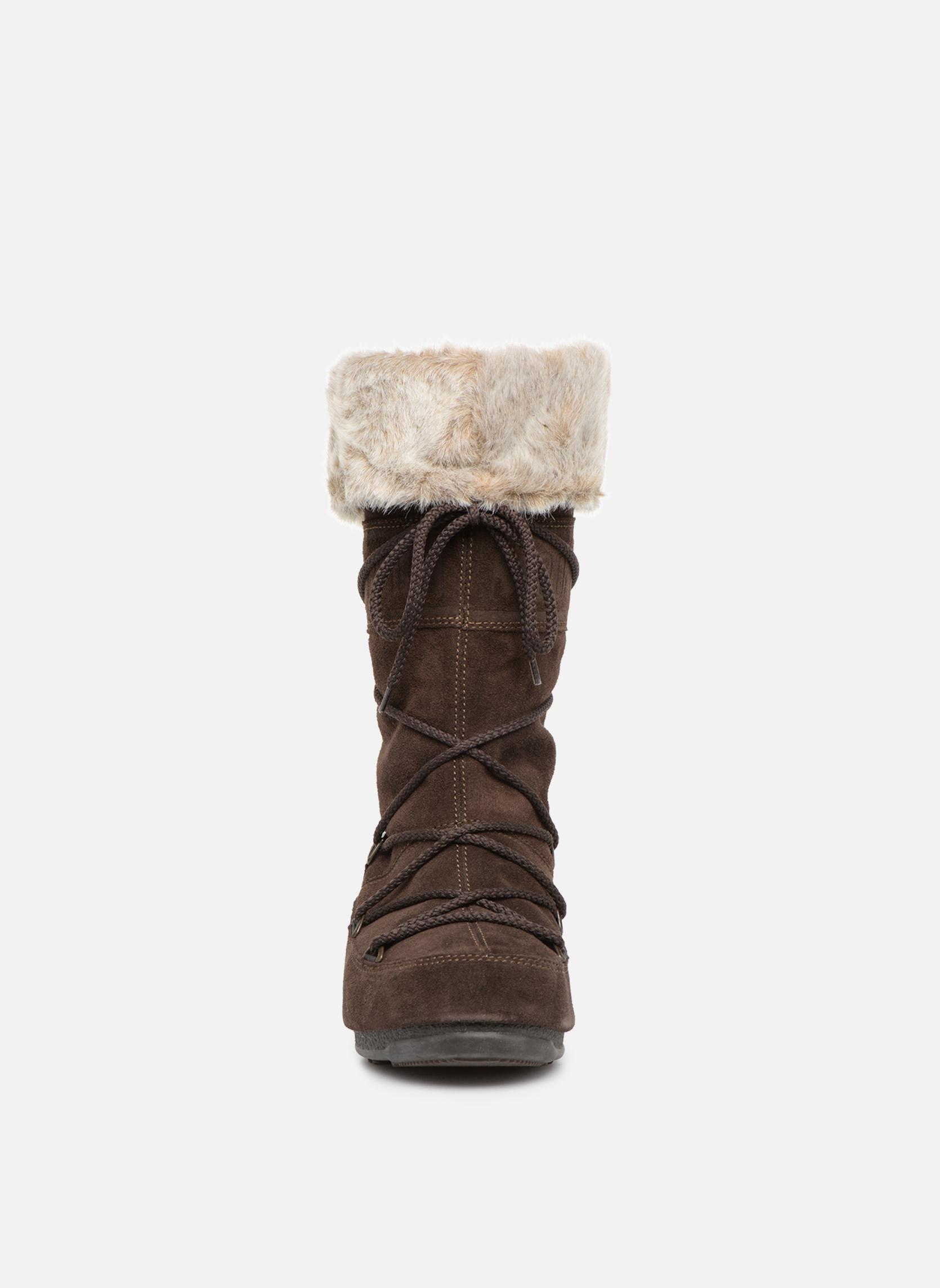 Stiefel Moon Boot Butter 2 braun schuhe getragen