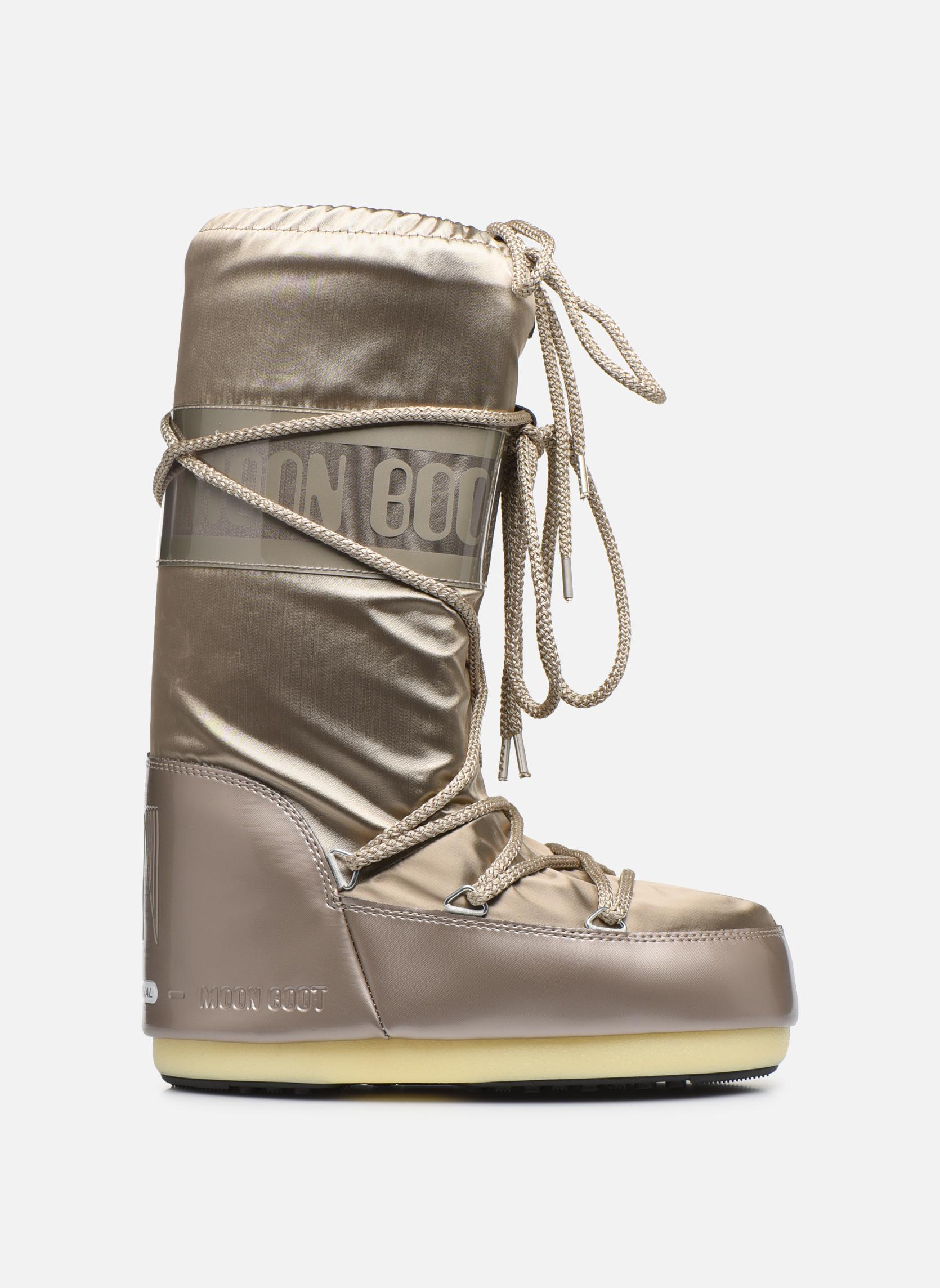 Chaussures de sport Moon Boot Glance Or et bronze vue derrière