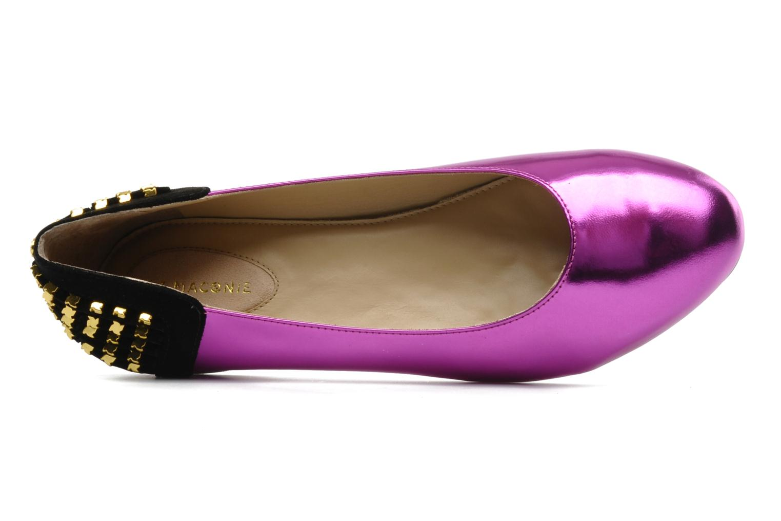CECILIA PURPLE MIRROR/BLACK SUEDE