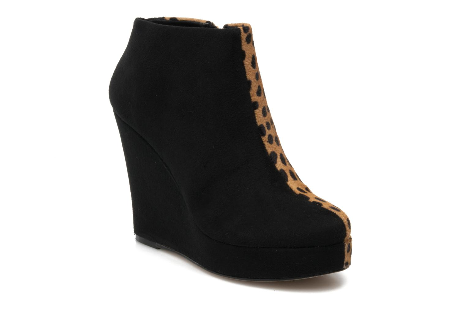 RUBY BLACK SUEDE/LEOPARD