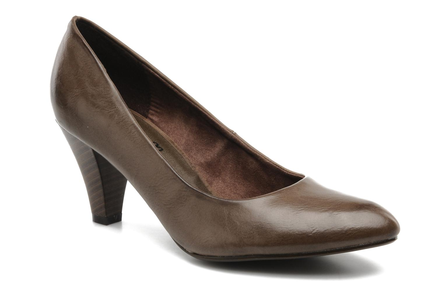 High heels I Love Shoes Supin Brown detailed view/ Pair view