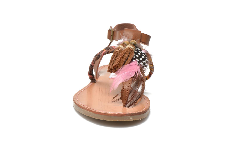 Sandales et nu-pieds Coolway MELROSE Marron vue portées chaussures