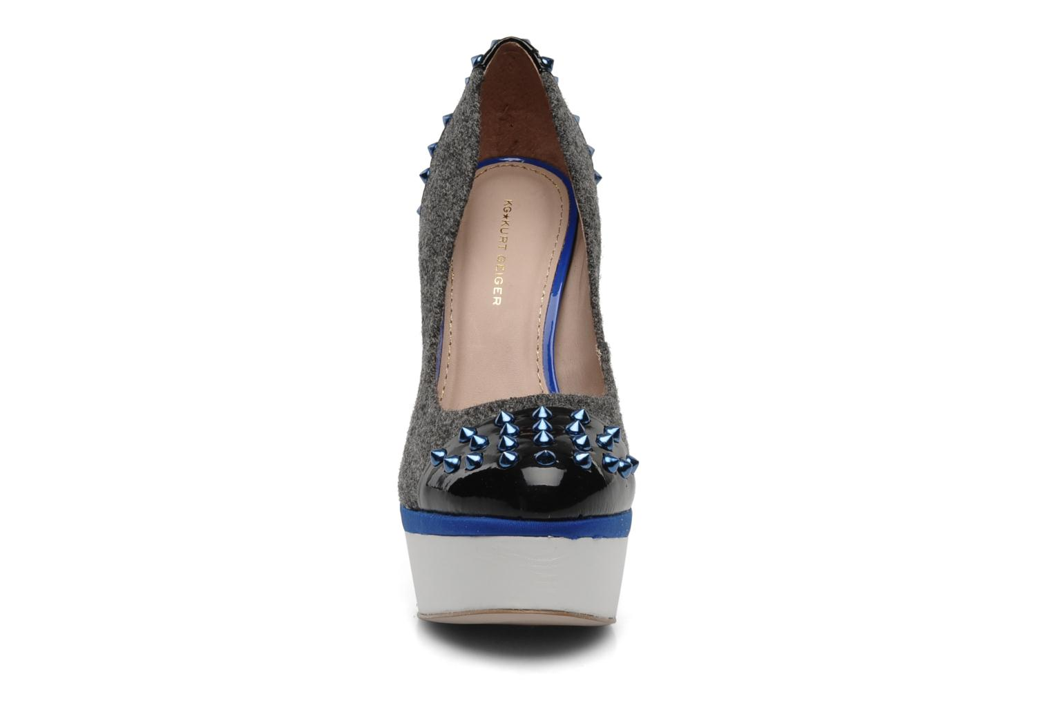 ESME TWEED / BLUE /BLACK PAT