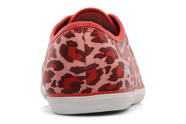 Sneakers Le Coq Sportif DEAUVILLE LP LEOPARD Rood rechts