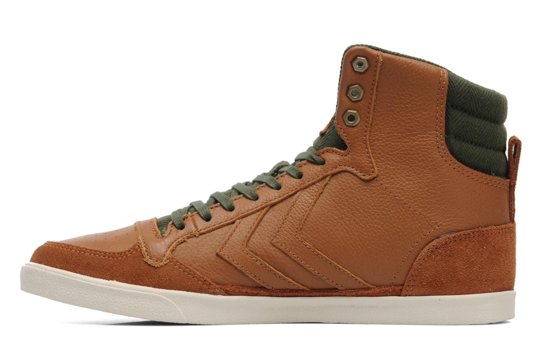 Sneakers Hummel Ten Star Vintage High Bruin voorkant