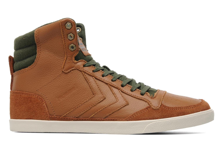 Sneakers Hummel Ten Star Vintage High Bruin achterkant