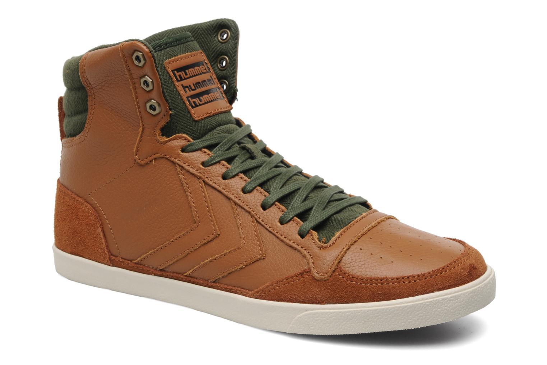 Sneakers Hummel Ten Star Vintage High Bruin detail