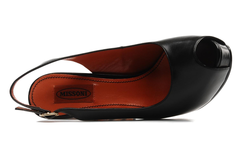 Sandales et nu-pieds Missoni Monia Noir vue gauche