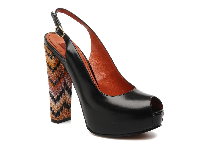 Sandaler Missoni Monia Sort detaljeret billede af skoene