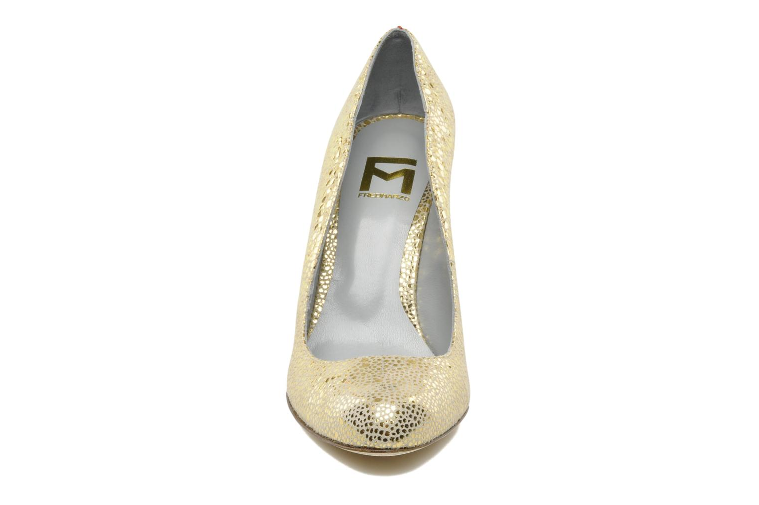 High heels Fred Marzo Titine Bronze and Gold model view