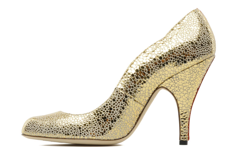 Zapatos de tacón Fred Marzo Titine Oro y bronce vista de frente