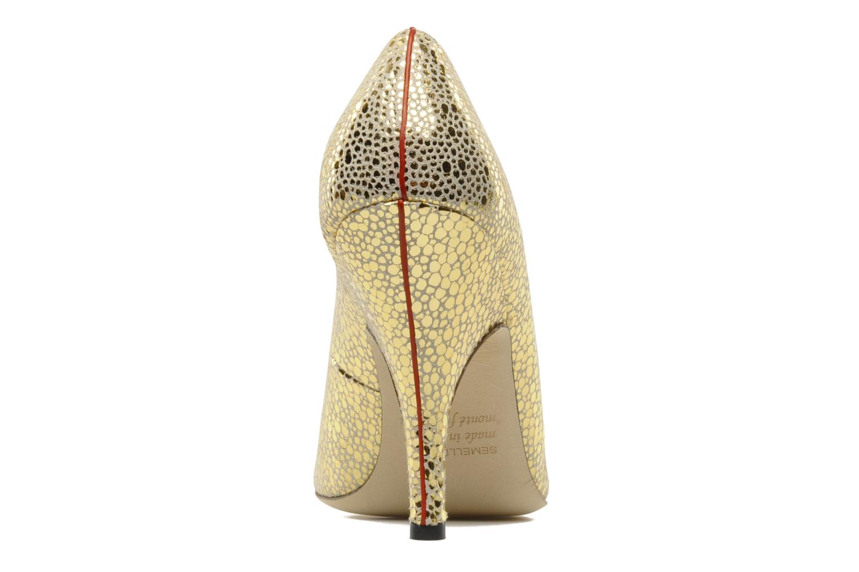 Zapatos de tacón Fred Marzo Titine Oro y bronce vista lateral derecha