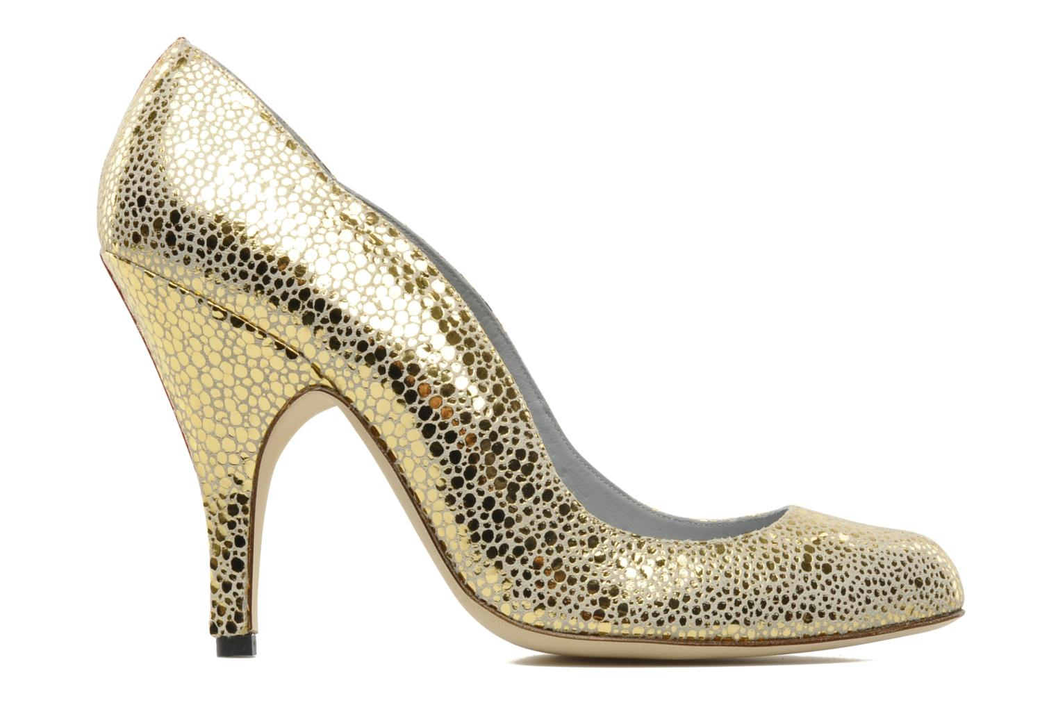High heels Fred Marzo Titine Bronze and Gold back view